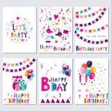 день рождения счастливый Позвольте партии s Стоковая Фотография RF