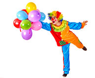 день рождения счастливый предпосылка искусства раздувает белизна вектора иллюстрации клоуна Стоковые Изображения RF