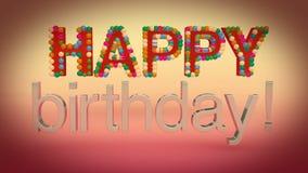день рождения счастливый иллюстрация вектора
