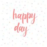 день счастливый Абстрактная литерность для карточки, приглашения, футболки Стоковые Изображения RF