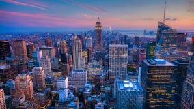 день 4K UltraHD к timelapse ночи в городе Нью-Йорка