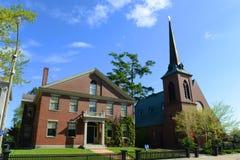 Епископальная церковь St Paul, согласие, NH, США Стоковые Фотографии RF