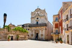 епископский средневековый дворец syracuse Стоковая Фотография RF