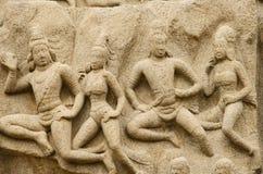 Епитимия Arjuna на Mahabalipuram, Tamil Nadu, Индии, Азии Стоковые Фото