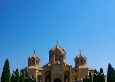 Ереван St Gregory собор иллюминатора снаружи стоковая фотография rf