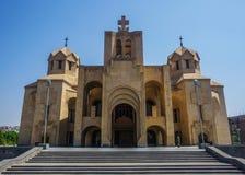 Ереван St Gregory собор иллюминатора стоковое изображение