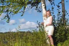 2 дерева березы Стоковая Фотография RF