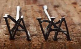 2 деревенских клеймя утюга для скотин Стоковые Изображения RF
