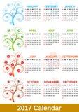 дерево 2017 календарей Стоковое Фото