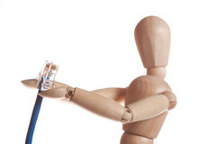 деревянная модель куклы манекена от gestalta Ikea Стоковое Изображение