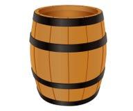 деревянное бочонка пустое Стоковая Фотография