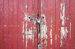 деревянное двери красное Стоковые Фотографии RF