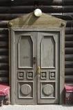 деревянное двери старое вход Стоковая Фотография