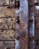 деревянное двери старое Стоковое Изображение RF