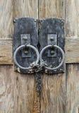 деревянное двери locked Стоковая Фотография