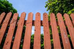 деревянное загородки старое Стоковое Изображение