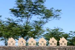 деревянное игрушки предпосылки изолированное домом белое Стоковое Изображение RF