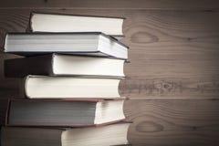 деревянное книги предпосылки старое Стоковые Фотографии RF