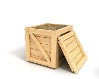 деревянное коробки закрытое стоковая фотография rf