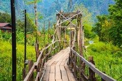 деревянное моста старое Стоковое Фото