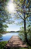 деревянное молы старое Стоковые Фото