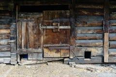 деревянное дома деревенское Стоковое Изображение