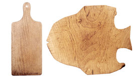 деревянное доски предпосылки изолированное вырезыванием белое Стоковая Фотография RF