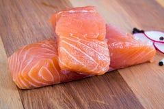 деревянное доски сырцовое salmon Стоковая Фотография RF