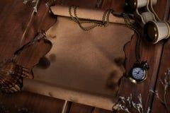 деревянное предпосылки старое бумажное Стоковое Изображение