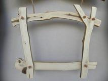 деревянное путя афиши изолированное клиппированием белое Стоковое Изображение