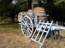 деревянное тележки старое Стоковые Изображения