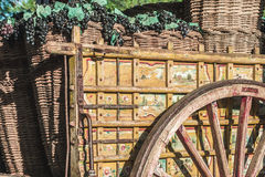 деревянное тележки старое Стоковое Изображение