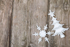 деревянное украшений рождества экологическое Стоковые Фотографии RF