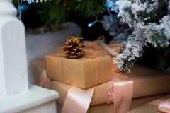 деревянное украшений рождества экологическое Стоковые Фото