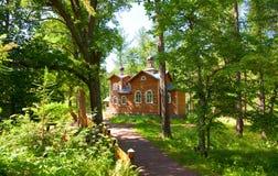 деревянное церков правоверное Стоковое фото RF