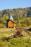 деревянное церков русское традиционное стоковое изображение