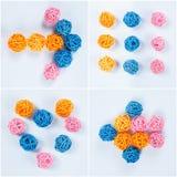 деревянное шариков декоративное Стоковое фото RF