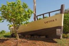 деревянное шлюпки старое Стоковая Фотография RF