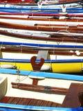 деревянное шлюпок цветастое Стоковое Изображение RF