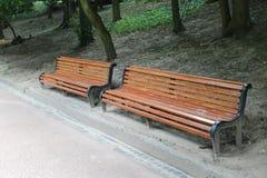 2 деревянной скамьи Стоковое фото RF