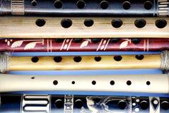 деревянные каннелюры с отверстиями Стоковое Изображение RF