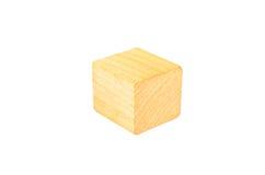 деревянный блок куба Стоковое Изображение