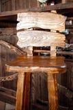 деревянный стул бара в стиле страны Стоковые Изображения