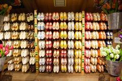 деревянный clog, традиционные голландские ботинки Стоковые Изображения