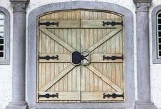 2 деревянных двери Стоковое фото RF