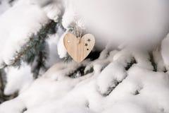деревянных игрушек в форме сердца Стоковое Изображение RF