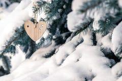 деревянных игрушек в форме сердца Стоковое Фото