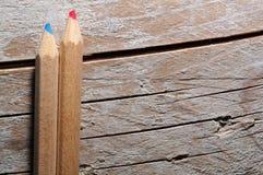 2 деревянных карандаша Стоковые Фотографии RF