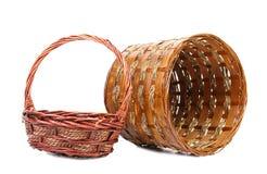 2 деревянных корзины Стоковые Фотографии RF