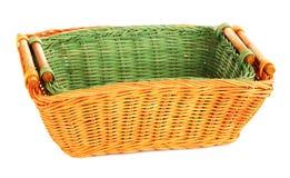 2 деревянных корзины Стоковые Фото